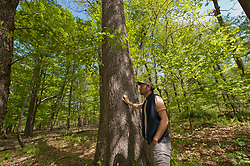 Representatives of Rutgers University take a walk around the ground of Mettler's Woods, a virgin primeval forest Thursday, May 4, 2017, in Franklin Township, Somerset County, NJ.