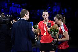 DK:<br /> 20190209, &Aring;rhus, Danmark:<br /> Badminton Danmark FZ Forza/RSL DM 2019. <br /> Dame Double: Alexandra B&oslash;je og Sara Lundgaard vs. Claudia Paredes og Julie Finne Ipsen. Guldvindere Claudia Paredes og Julie Finne Ipsen<br /> Foto: Lars M&oslash;ller<br /> UK: <br /> 20190209, Aarhus, Denmark:<br /> Badminton Danmark FZ Forza/RSL DM 2019.<br /> Dame Double: Alexandra B&oslash;je og Sara Lundgaard vs. Claudia Paredes og Julie Finne Ipsen. Guldvindere Claudia Paredes og Julie Finne Ipsen<br /> Photo: Lars Moeller