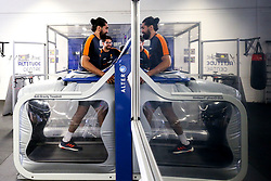 Michael Fatialofa of Worcester Warriors continues his rehab from a serious spinal injury, sustained in the game against Saracens, as the team return to training in small socially distant groups after the Coronavirus lockdown restrictions were eased - Mandatory by-line: Robbie Stephenson/JMP - 23/06/2020 - RUGBY - Sixways Stadium - Worcester, England - Worcester Warriors Training