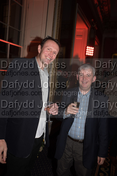 JOHN MCNALLY; PHILIP PARKER, Literary Review Christmas party and Bad SEx Awards. In and Out club. St. James Sq. London. 3 December 2018