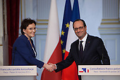 Francois Hollande and Ewa Kopacz - Poland / France