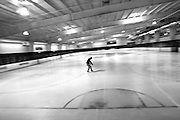 Kevin Ballantine roams the rink alone at an ice rink in Aurora, Ill. In a week, Kevin will check into the University of Chicago Medical Center for his bone marrow transplant followed by months of observation at the hospital. - 5/29/2009