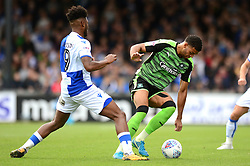 Ellis Harrison of Bristol Rovers closes down Jake Jervis of Plymouth Argyle - Mandatory by-line: Dougie Allward/JMP - 30/09/2017 - FOOTBALL - Memorial Stadium - Bristol, England - Bristol Rovers v Plymouth Argyle - Sky Bet League One