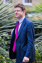 Downing Street, London, April 12th 2016. Communities Secretary Greg Clark arrives at the weekly cabinet meeting. &copy;Paul Davey<br /> FOR LICENCING CONTACT: Paul Davey +44 (0) 7966 016 296 paul@pauldaveycreative.co.uk