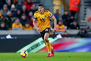 Wolverhampton Wanderers midfielder Conor Coady (16) in action  during the Premier League match between Wolverhampton Wanderers and Newcastle United at Molineux, Wolverhampton, England on 11 February 2019.