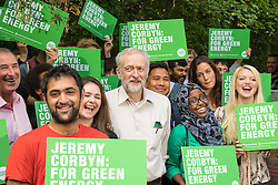 Camley Street Nature Park, Kings Cross, London, August7th 2015. Labour Party leadership candidate Jeremy Corbyn launches his policies for the environment at Camley Street Nature Park in London.