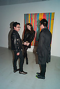 JOSEPH PARCON; AMANDA SHIRREFFS; DANNY CHAN, Fired Up, Exhibition of work by Joe Clark, Lauren Cotton, Rory McCartney, David Jones and Farid Rasulov. Gazelli Art House. Wakefield st. London. WC1. 10 February 2011. -DO NOT ARCHIVE-© Copyright Photograph by Dafydd Jones. 248 Clapham Rd. London SW9 0PZ. Tel 0207 820 0771. www.dafjones.com.