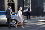 Cabinet meeting arrivals <br /> Downing Street, London, Great Britain <br /> 19th July 2016 <br /> <br /> Theresa May <br /> Prime Minister <br /> arriving ahead of her first cabinet meeting <br /> <br /> <br /> Photograph by Elliott Franks <br /> Image licensed to Elliott Franks Photography Services