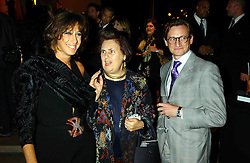 Left to right, DONNA KARAN, SUZY MENKES and HAMISH BOWLES at a party to celebrate the first 20 years of fashion label Donna Karan held at her store at 19/20 New Bond Street, London W1 on 21st September 2004.<br /><br />NON EXCLUSIVE - WORLD RIGHTS