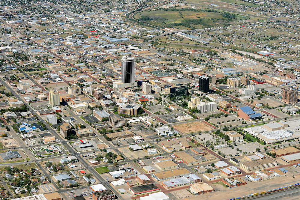 Amarillo Texas downtown aerial.  Sept 29, 2013. 84062