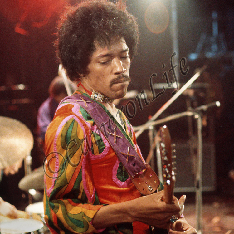 "Jimi Hendrix - .The Legend.-  Hendrix, cool, collected and happy was determined to give the audience a real ""Experience"". The sheer mastery of his blues guitar gave them what they were looking for and won them over. His friday night performance was to be one of his last. On the 18th September 1970, less than three weeks later, Jimi Hendrix was dead"