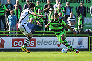 Forest Green Rovers Dan Wishart(17) runs forward during the Vanarama National League match between Forest Green Rovers and Maidstone United at the New Lawn, Forest Green, United Kingdom on 22 April 2017. Photo by Shane Healey.