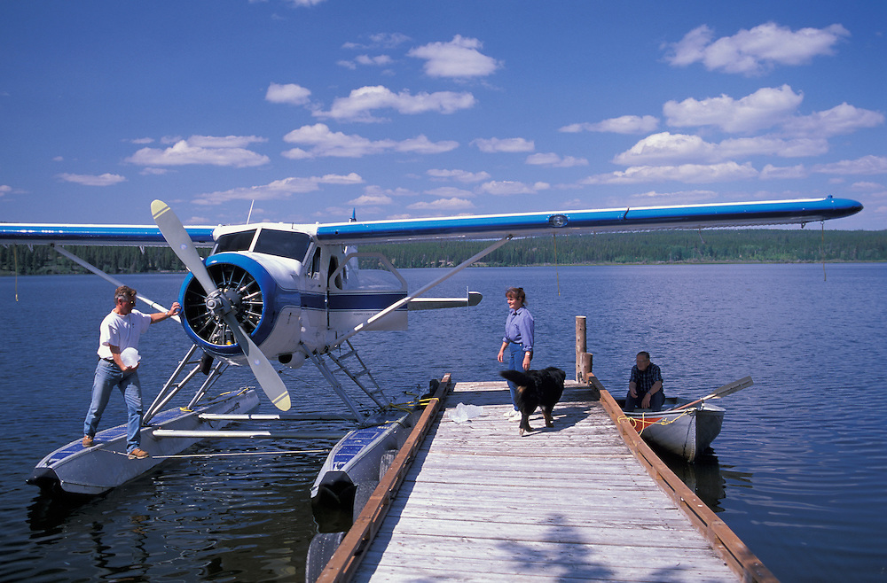 Bush Plane on Clearwater Lake, Chilcotin Country,British Columbia,Canada