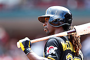 ST. LOUIS, MO - AUGUST 15: Andrew McCutchen #22 of the Pittsburgh Pirates looks on before batting against the St. Louis Cardinals during the game at Busch Stadium on August 15, 2013 in St. Louis, Missouri. (Photo by Joe Robbins)