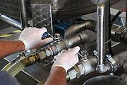 Foto di Donato Fasano Photoagency, nella foto :  13 07 2009 Bari Fluidotecnica zona industriale inventori della macchina che scinde l'olio dall'acqua nella foto i separatore , macchinario per scindere