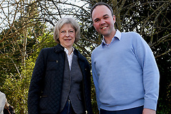 © Licensed to London News Pictures. 07/03/2015. Croydon, UK. Gavin Barwell MP for Croydon North canvassing with Theresa May foreign Secretary in Shirley Croydon.  Photo credit: Presspics/LNP