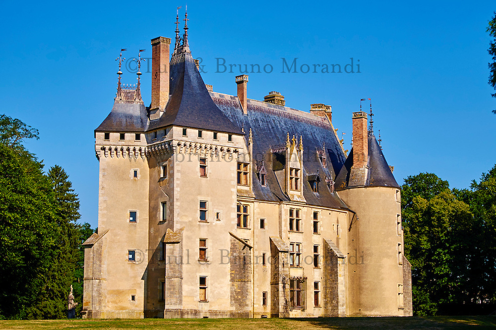 France, Cher (18), Berry, le Chateau de Meillant, route Jacques Coeur // France, Cher (18), Berry, Chateau de Meillant castle,  the Jacques Coeur road