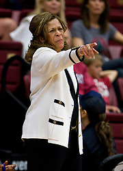 March 20, 2010; Stanford, CA, USA; Rutgers Scarlet Knights head coach C. Vivian Stringer during the second half against the Iowa Hawkeyes in the first round of the 2010 NCAA womens basketball tournament at Maples Pavilion.  Iowa defeated Rutgers 70-63.