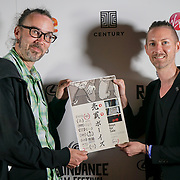 London, England, UK. 28th September 2017.Adrian Storey,producer/DOP,Ian Thomas Ash,executive producer of Boys for Sale attend Raindance Film Festival Screening at Vue Leicester Square, London, UK.