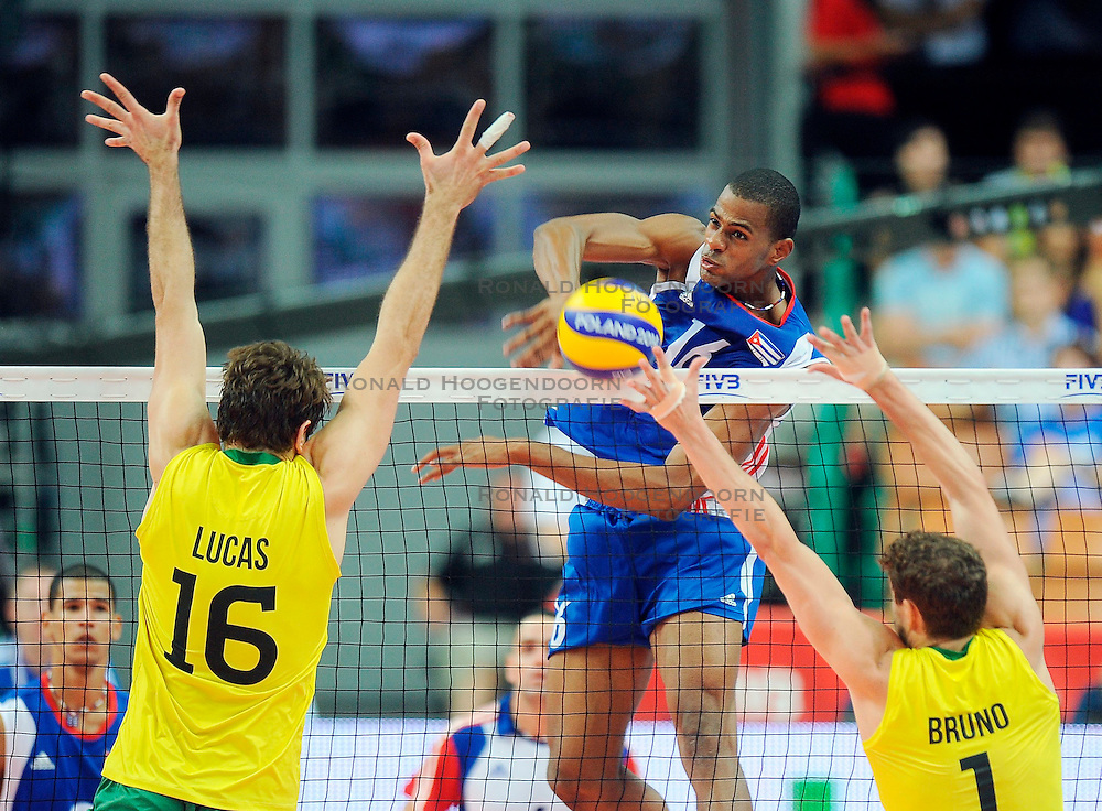 07.09.2014, Spodek, Katowice, POL, FIVB WM, Brasilien vs Kuba, Gruppe B, im Bild ISBEL MESA // during the FIVB Volleyball Men's World Championships Pool B Match beween Brazil vs Cuba at the Spodek in Katowice, Poland on 2014/09/07. <br /> <br /> ***NETHERLANDS ONLY***
