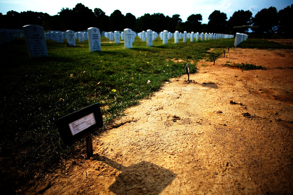 The most recent additions to Section 60 at Arlington National Cemetery in Arlington, VA are pictured on Saturday, July 25, 2009.
