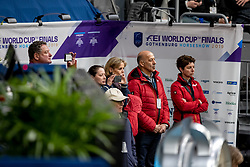 WERNDL Micaela, HILBERATH Jonny (Co Bundestrainer Dressur GER), THEODORESCU Monica (Bundestrainer GER)<br /> Göteborg - Gothenburg Horse Show 2019 <br /> FEI Dressage World Cup™ Final I<br /> Int. dressage competition - Grand Prix de Dressage<br /> Longines FEI Jumping World Cup™ Final and FEI Dressage World Cup™ Final<br /> 05. April 2019<br /> © www.sportfotos-lafrentz.de/Stefan Lafrentz