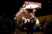 Helloween by Gorgons Carnival Club, with moon in the background, at Bridgwater Guy Fawkes Carnival. Eleventh in the Feature Cart Open Class.