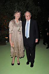 The EARL & COUNTESS DE LA WARR at a dinner hosted by Cartier in celebration of the Chelsea Flower Show held at Battersea Power Station, 188 Kirtling Street, London SW8 on 23rd May 2011.