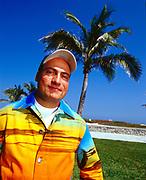 Danny Tenaglia, on Ocean drive, South Beach, Miami, Florida. USA. March 2002