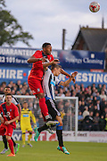 Vadaine Oliver during the Pre-Season Friendly match between York City and Newcastle United at Bootham Crescent, York, England on 29 July 2015. Photo by Simon Davies.