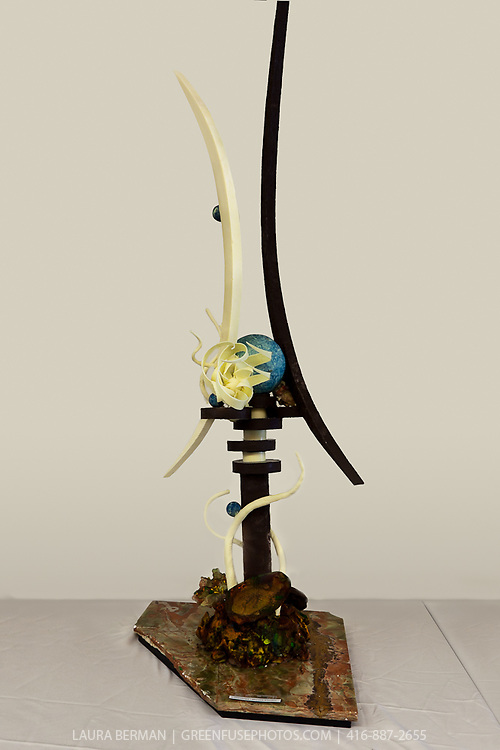Artistic chocolate showpieces at the 2011 Canadian Intercollegiate Chocolate Competition