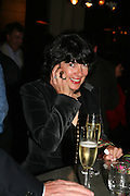 Christianne Amanpour, A A Gill party to celebrate the  publication of Table Talk, a collection of his reviews. Hosted by Marco Pierre White at <br />