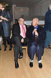 Left to right, SIR NORMAN ROSENTHAL and SIR TERENCE CONRAN at the Liberatum Cultural Honour For Sir Terence Conran Dinner held at the Sanderson Hotel, Berners Street, London on 19th November 2013.
