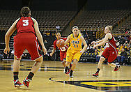 February 11 2013: Iowa Hawkeyes guard Melissa Dixon (21) drives with the ball during the first half of the NCAA women's basketball game between the Nebraska Cornhuskers and the Iowa Hawkeyes at Carver-Hawkeye Arena in Iowa City, Iowa on Monday, February 11 2013.
