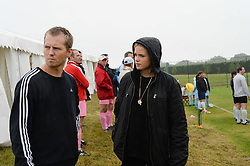 GABRIELLA ANSTRUTHER-GOUGH-CALTHORPE (Actress Gabriella Wilde) and ALAN POWNALL at the Ripley Football Tournament hosted by Irene Forte in aid of The Samaritans held at Ryde Farm, Hungry Hill Lane, Ripley, Surrey on 14th September 2013.  After the football guests enjoyed an after party.