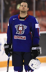 Andrej Hebar of Slovenia at ice-hockey game Slovenia vs Slovakia at Relegation  Round (group G) of IIHF WC 2008 in Halifax, on May 09, 2008 in Metro Center, Halifax, Nova Scotia, Canada. Slovakia won 5:1. (Photo by Vid Ponikvar / Sportal Images)
