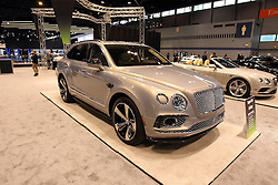 11 February 2016:  2017 Bentley Bentayga.<br /> <br /> First staged in 1901, the Chicago Auto Show is the largest auto show in North America and has been held more times than any other auto exposition on the continent.  It has been  presented by the Chicago Automobile Trade Association (CATA) since 1935.  It is held at McCormick Place, Chicago Illinois<br /> #CAS16