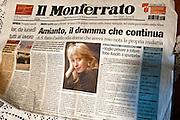 Casale Monferrato, Italy, feb.2010. Il Monferrato, the local newspaper, announce the death of Maria Pavesi, Romana Blasotti's daughter, on 27th aug 2004.