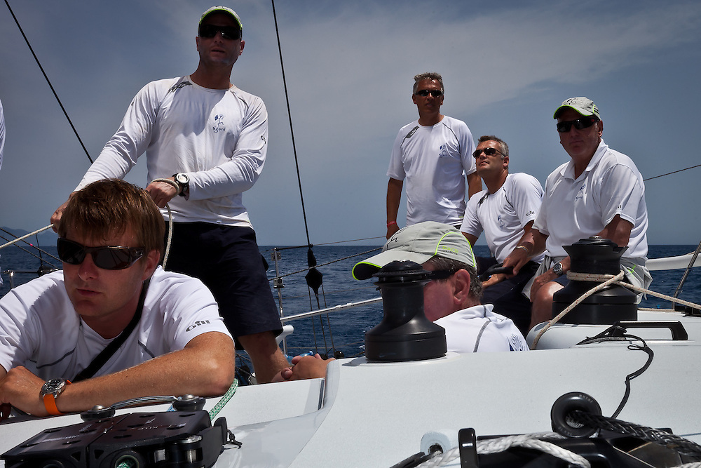 ITALY, Sardinia, Cagliari. 22nd July 2011. AUDI MedCup, Region of Sardinia Trophy. On board Soto40 Ngoni