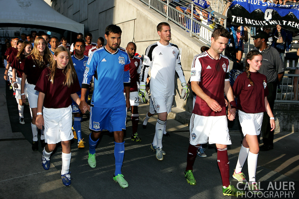 June 15th, 2013 - The visiting San Jose Earthquake and the home team Colorado Rapids enter the pitch prior to the MLS match between San Jose Earthquake and the Colorado Rapids at Dick's Sporting Goods Park in Commerce City, CO