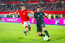 10.09.2013, Ernst Happel Stadion, Wien, AUT, FIFA WM Qualifikation, Oesterreich vs Irland, Rueckspiel, im Bild Aleksandar Dragovic, (AUT, #3), Shane Long, (IRL, #9)// during the FIFA World Cup Qualifier second leg Match between Austria and Ireland at the Ernst Happel Stadium in Vienna, Austria on 2013/09/10. EXPA Pictures © 2013, PhotoCredit: EXPA/ Sebastian Pucher