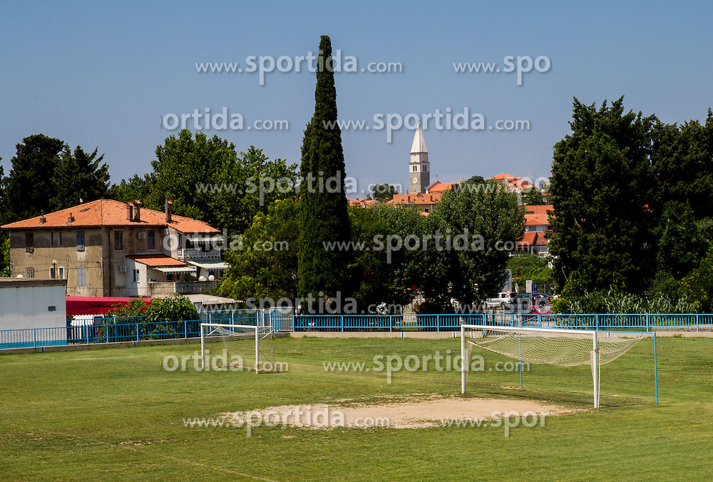 Football stadium in town Izola / Isola on June 21, 2013 in Izola, Slovenia. (Photo by Vid Ponikvar / Sportida.com)