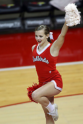 07 October 2017:  Cheerleader during a college women's volleyball match between the Crusaders of Valparaiso and the Illinois State Redbirds at Redbird Arena in Normal IL (Photo by Alan Look)