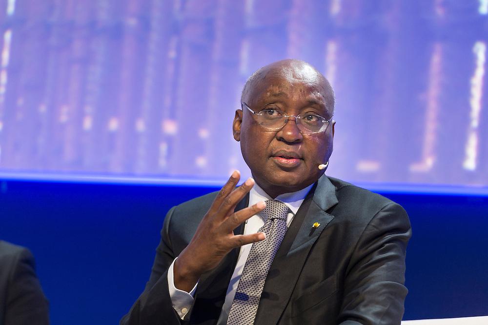 """Donald Kaberuka, Président de la Banque Africaine de Développement (BAD), lors du Panel Croissance: """"2015-2020: quelles trajectoires de croissance pour les économies africaines?"""", le 16 mars 2015, Africa Ceo Forum 2015"""