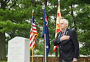 Colin Benson speaks during a ceremony marking 71th anniversary of a crash that killed 40 Army Air Corps members at Bakers Creek, Australia at Joint Base Myer-Henderson Hall in Arlington, Va. on June 13, 2014. Photo by Kris Connor