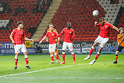 Charlton Athletic midfielder Darren Pratley (15) heads the ball out of danger during the EFL Sky Bet Championship match between Charlton Athletic and Hull City at The Valley, London, England on 13 December 2019.
