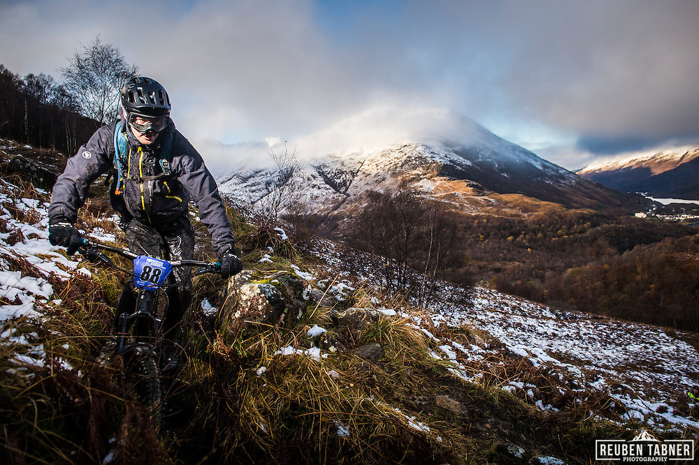 James Harris tackles stage one of the Kinlochleven Enduro.