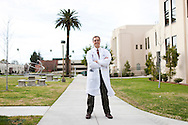 January 24th, 2012, Loma Linda, California. The health conscious residents of Loma Linda, a small California city with a large Seventh-day Adventist population, have banded together to fight against the opening of the town's first McDonald's. Pictured is Doctor Wayne Dysinger a Seventh-day Adventist who is against the fast food chain opening a restaurant. PHOTO © JOHN CHAPPLE / www.johnchapple.com.