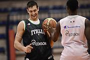 Biella, 15/12/2012<br /> Basket, All Star Game 2012<br /> Allenamento Nazionale Italiana Maschile <br /> Nella foto: riccardo moraschini<br /> Foto Ciamillo