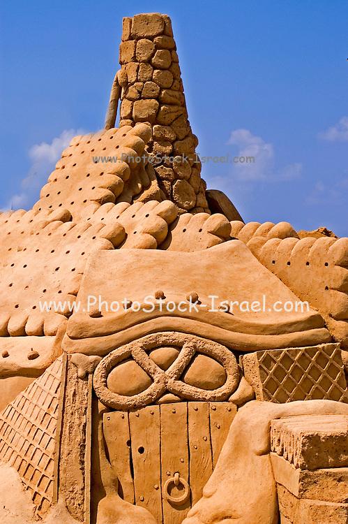 Candy House, Sand sculpture festival on the Haifa beach, July 2006